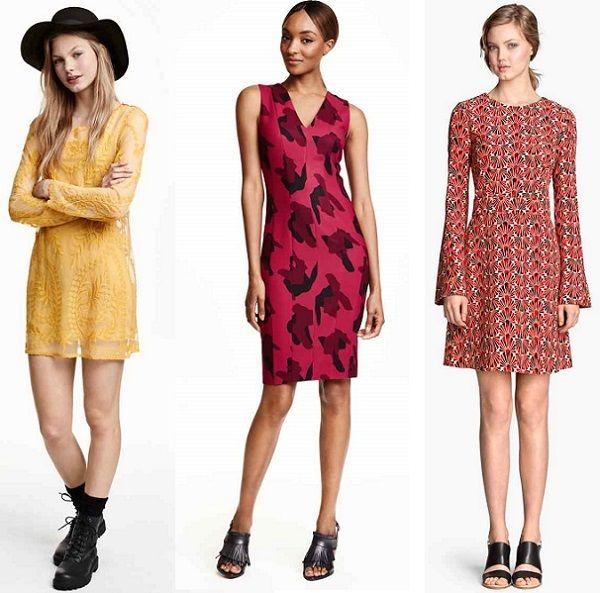 Vestidos cortos de fiesta otono invierno 2015