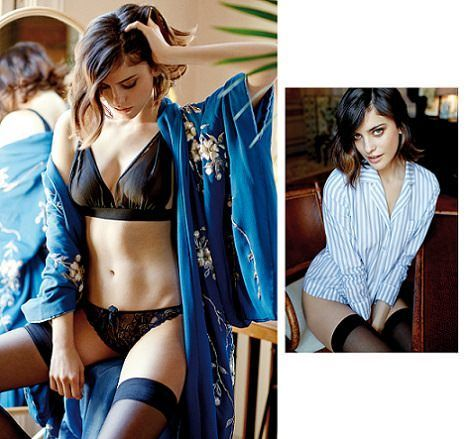 kimono azul women secret invierno 2014