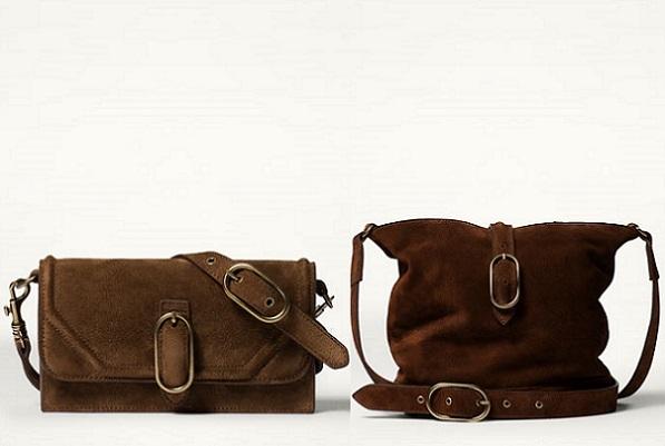 Me encantan los bolsos de serraje y esta temporada están muy de moda. El único pero que les veo es que al estar próximos a prendas de colores más oscuros