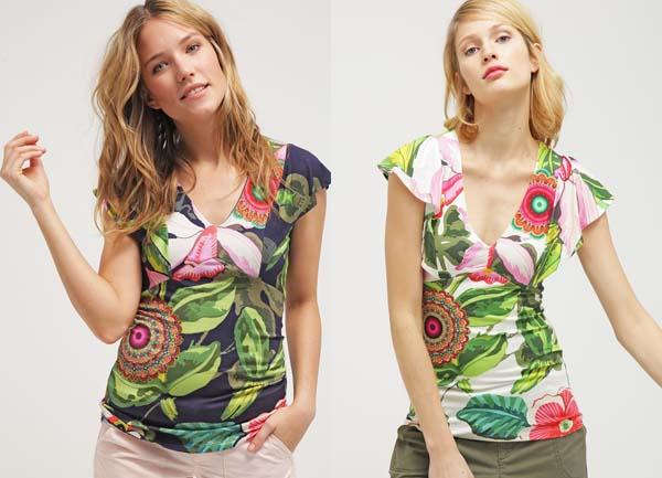 camisetas-escote-v-desigual