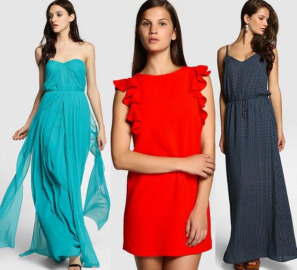 Vestido largo azul marino easy wear
