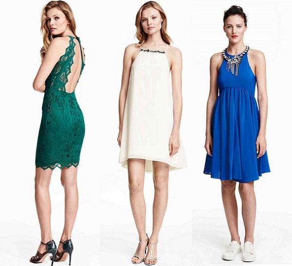 15 vestidos de h m para bodas bautizos y comuniones 2015 for Boda en jardin de noche como vestir
