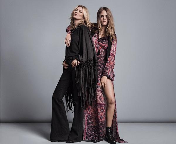 293f6451d359 ¡Ya está aquí la nueva campaña de Mango protagonizada por las tops  británicas Cara Delevingne y Kate Moss bajo el hashtag  somethingincommon.