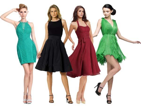 Color en los vestidos de cóctel